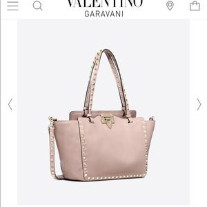 5fa9867bb Valentino · Valentino Garavani Rockstud small tote calfskin